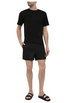 Мужские кожаные шлепанцы GIVENCHY черного цвета, арт. BH300SH0SF   Фото 2