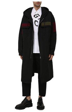 Мужские кожаные дерби GIVENCHY черного цвета, арт. BH1031H0KF   Фото 2