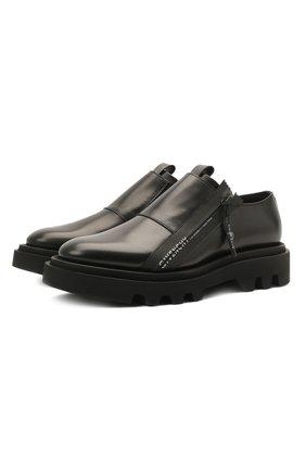 Мужские кожаные ботинки combat GIVENCHY черного цвета, арт. BH1030H0KE   Фото 1