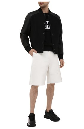 Мужские кожаные кроссовки GIVENCHY черного цвета, арт. BH003MH0UB   Фото 2