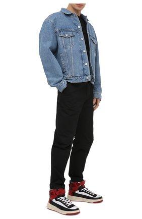 Мужские кожаные кеды babila mix ACNE STUDIOS разноцветного цвета, арт. BD0151 | Фото 2 (Материал внутренний: Текстиль; Подошва: Массивная)