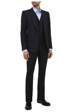 Мужские кожаные дерби DOLCE & GABBANA черного цвета, арт. A10664/A1203 | Фото 2 (Материал внутренний: Натуральная кожа; Стили: Классический)