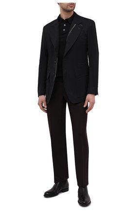 Мужское хлопковое поло FEDELI черного цвета, арт. 4UED5910   Фото 2