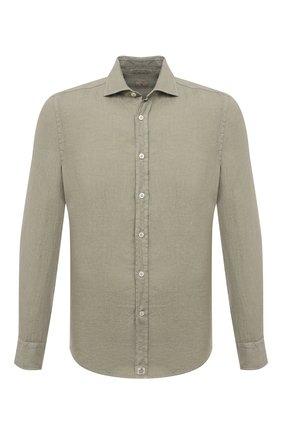 Мужская льняная рубашка SONRISA светло-зеленого цвета, арт. I4/TC/TC162 | Фото 1