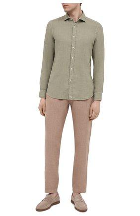 Мужская льняная рубашка SONRISA светло-зеленого цвета, арт. I4/TC/TC162 | Фото 2