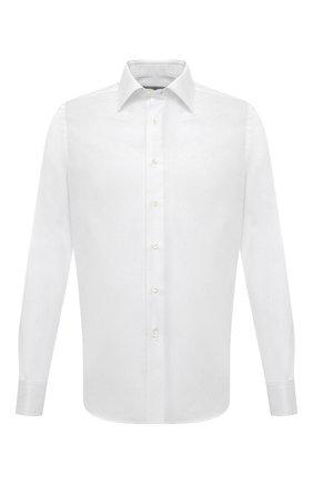 Мужская хлопковая сорочка CANALI белого цвета, арт. X05/GD02301 | Фото 1