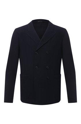 Мужской пиджак GIORGIO ARMANI темно-синего цвета, арт. 1SGGG0LV/T02GP | Фото 1