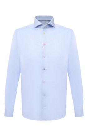 Мужская хлопковая сорочка ETON голубого цвета, арт. 1000 02265 | Фото 1 (Рукава: Длинные; Материал внешний: Хлопок; Длина (для топов): Стандартные; Случай: Формальный; Рубашки М: Slim Fit; Манжеты: На пуговицах; Принт: Однотонные; Воротник: Акула; Стили: Классический)