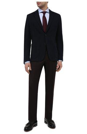 Мужская хлопковая сорочка ETON голубого цвета, арт. 1000 02265 | Фото 2 (Рукава: Длинные; Материал внешний: Хлопок; Длина (для топов): Стандартные; Случай: Формальный; Рубашки М: Slim Fit; Манжеты: На пуговицах; Принт: Однотонные; Воротник: Акула; Стили: Классический)