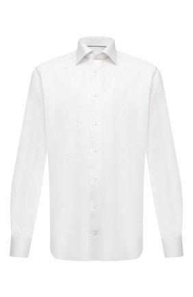 Мужская хлопковая сорочка ETON белого цвета, арт. 1000 02021 | Фото 1 (Длина (для топов): Стандартные; Материал внешний: Хлопок; Рукава: Длинные; Случай: Формальный; Рубашки М: Slim Fit; Манжеты: На пуговицах; Воротник: Акула; Стили: Классический; Принт: Однотонные)