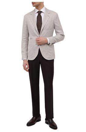 Мужская хлопковая сорочка ETON белого цвета, арт. 1000 02021 | Фото 2 (Длина (для топов): Стандартные; Материал внешний: Хлопок; Рукава: Длинные; Случай: Формальный; Рубашки М: Slim Fit; Манжеты: На пуговицах; Воротник: Акула; Стили: Классический; Принт: Однотонные)
