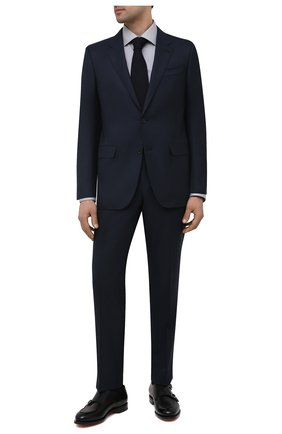 Мужская хлопковая сорочка ETON серого цвета, арт. 1000 01732   Фото 2 (Длина (для топов): Стандартные; Материал внешний: Хлопок; Рукава: Длинные; Случай: Формальный; Рубашки М: Slim Fit; Манжеты: На пуговицах; Принт: Полоска; Воротник: Акула; Стили: Классический)