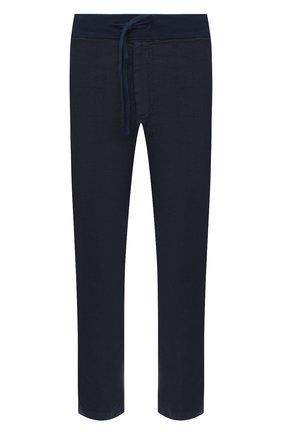 Мужские льняные брюки 120% LINO темно-синего цвета, арт. T0M2131/0253/000 | Фото 1 (Материал внешний: Лен; Длина (брюки, джинсы): Стандартные; Случай: Повседневный; Стили: Кэжуэл)