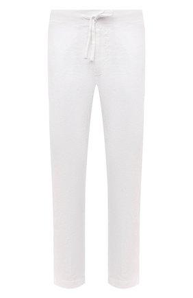 Мужские льняные брюки 120% LINO белого цвета, арт. T0M2131/0253/000   Фото 1