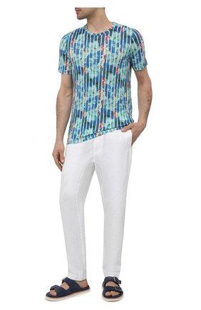 Мужские льняные брюки 120% LINO белого цвета, арт. T0M2131/0253/000   Фото 2