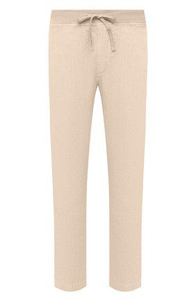 Мужские льняные брюки 120% LINO бежевого цвета, арт. T0M2131/0253/000 | Фото 1
