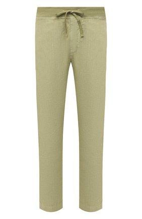 Мужские льняные брюки 120% LINO светло-зеленого цвета, арт. T0M2131/0253/S00 | Фото 1