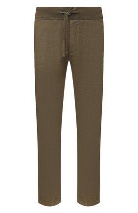 Мужские льняные брюки 120% LINO хаки цвета, арт. T0M2131/0253/S00 | Фото 1