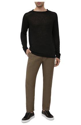 Мужские льняные брюки 120% LINO хаки цвета, арт. T0M2131/0253/S00 | Фото 2