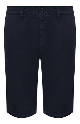 Мужские льняные шорты 120% LINO темно-синего цвета, арт. T0M2137/0253/000 | Фото 1