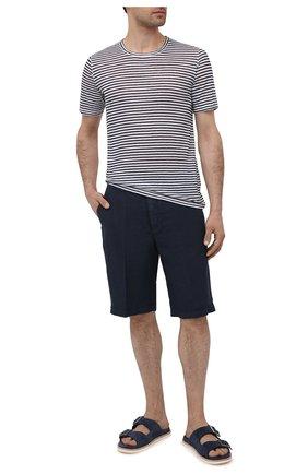 Мужские льняные шорты 120% LINO темно-синего цвета, арт. T0M2137/0253/000 | Фото 2