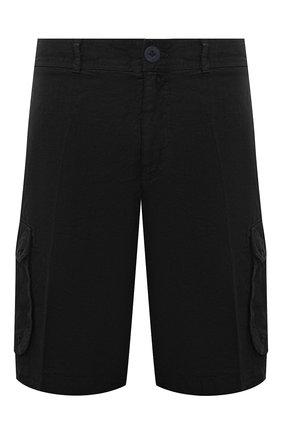 Мужские льняные шорты 120% LINO черного цвета, арт. T0M2426/0253/000   Фото 1