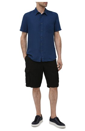 Мужские льняные шорты 120% LINO черного цвета, арт. T0M2426/0253/000   Фото 2