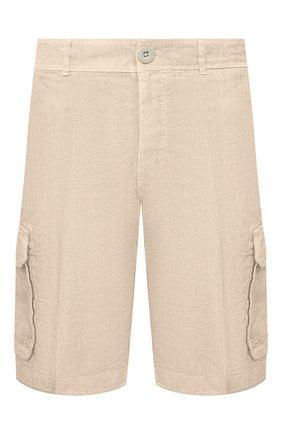 Мужские льняные шорты 120% LINO бежевого цвета, арт. T0M2426/0253/000 | Фото 1