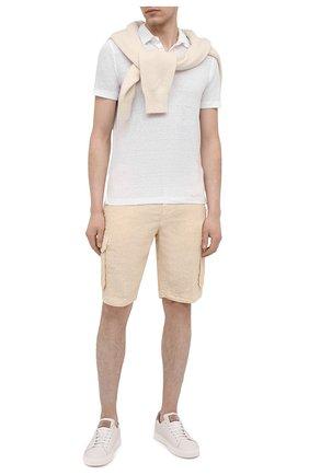 Мужские льняные шорты 120% LINO бежевого цвета, арт. T0M2426/0253/000 | Фото 2