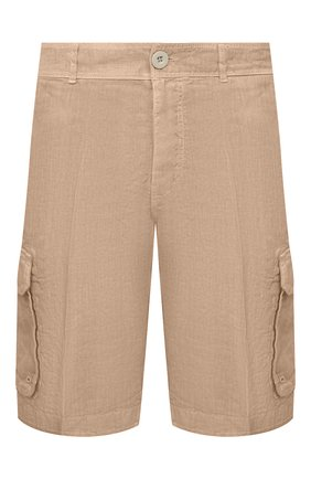 Мужские льняные шорты 120% LINO темно-бежевого цвета, арт. T0M2426/0253/000 | Фото 1