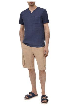 Мужские льняные шорты 120% LINO темно-бежевого цвета, арт. T0M2426/0253/000 | Фото 2