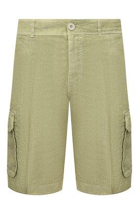 Мужские льняные шорты 120% LINO светло-зеленого цвета, арт. T0M2426/0253/S00 | Фото 1