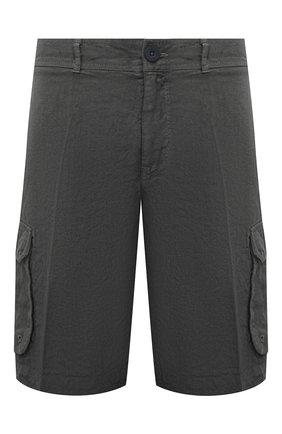 Мужские льняные шорты 120% LINO темно-серого цвета, арт. T0M2426/0253/S00   Фото 1
