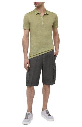 Мужские льняные шорты 120% LINO темно-серого цвета, арт. T0M2426/0253/S00   Фото 2