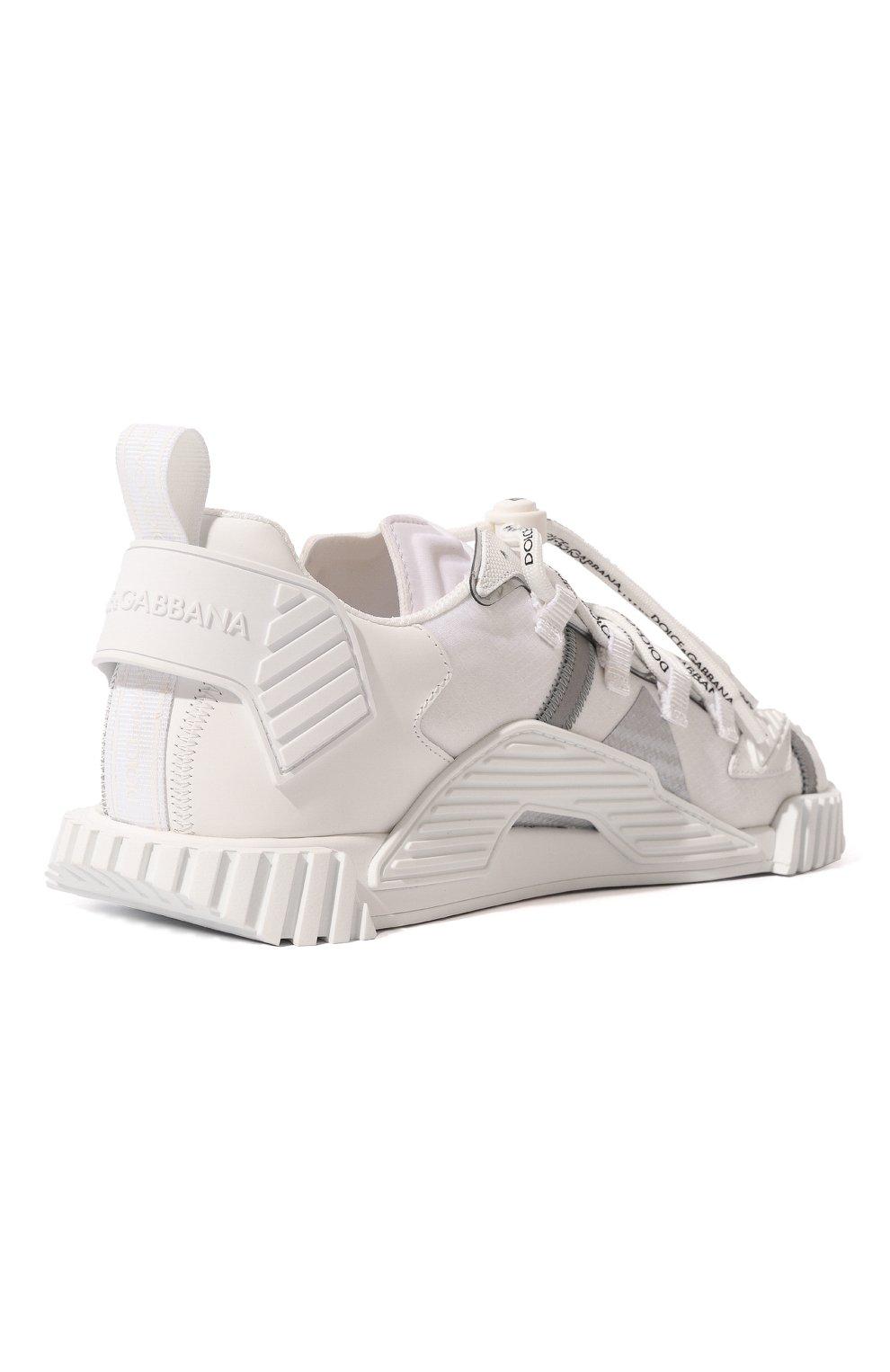 Мужские комбинированные кеды ns1 DOLCE & GABBANA белого цвета, арт. CS1770/AJ969 | Фото 5