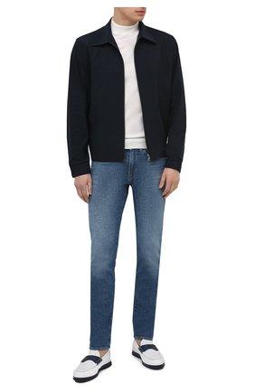 Мужские кожаные лоферы DOUCAL'S белого цвета, арт. DU2657ARTHPZ406BW00 | Фото 2