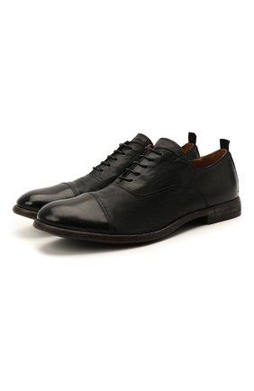 Мужские кожаные оксфорды MOMA черного цвета, арт. 2AS035-S0   Фото 1