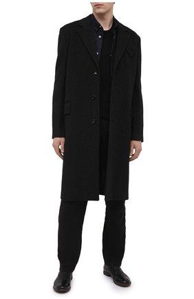 Мужские кожаные оксфорды MOMA черного цвета, арт. 2AS035-S0   Фото 2