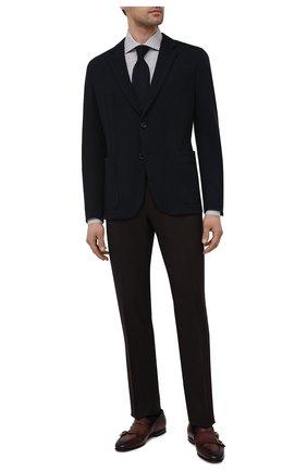 Мужская хлопковая сорочка ERMENEGILDO ZEGNA коричневого цвета, арт. 901013/9MS0BA | Фото 2