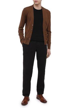 Мужские кожаные дерби PANTANETTI коричневого цвета, арт. 14404E/GUELF0   Фото 2