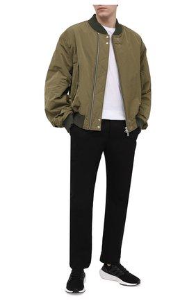 Мужские текстильные кроссовки ultraboost 21 ADIDAS черного цвета, арт. FY0378 | Фото 2