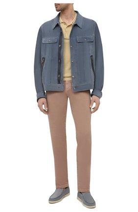 Мужские джинсы LORO PIANA бежевого цвета, арт. FAG1329 | Фото 2