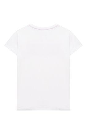Детская хлопковая футболка EMILIO PUCCI белого цвета, арт. 9O8021 | Фото 2