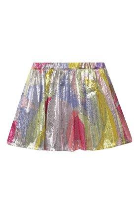 Детская юбка с пайетками EMILIO PUCCI разноцветного цвета, арт. 9O7060 | Фото 2