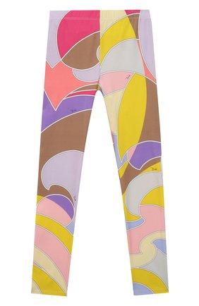 Детские хлопковые леггинсы EMILIO PUCCI разноцветного цвета, арт. 9O6030 | Фото 1