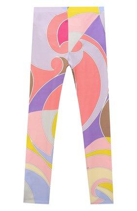 Детские хлопковые леггинсы EMILIO PUCCI разноцветного цвета, арт. 9O6030 | Фото 2