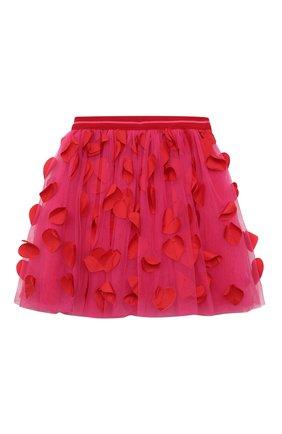 Детская юбка SIMONETTA фуксия цвета, арт. 1O7040 | Фото 1