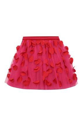 Детская юбка SIMONETTA фуксия цвета, арт. 1O7040 | Фото 2