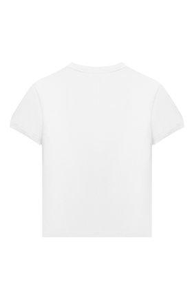 Детская хлопковая футболка DOLCE & GABBANA белого цвета, арт. L4JT8A/G7YBK/8-14 | Фото 2