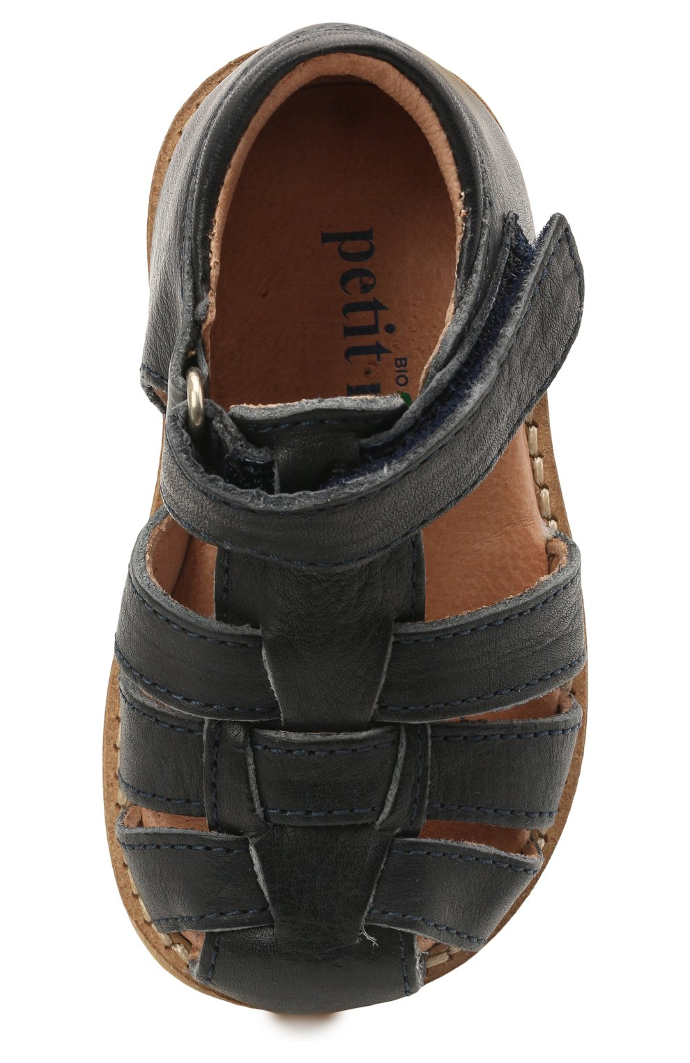 Детские кожаные босоножки PETIT NORD синего цвета, арт. 2543/19-24 | Фото 4 (Материал внутренний: Натуральная кожа)